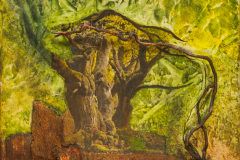 Trees - Mixed Media on Canvas - 40 x 40 cm