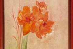 Amaryllis - Acryl on Canvas - 35 x 40 cm