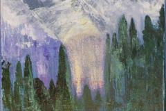 Mountains - Acryl on Canvas - 30 x 40 cm