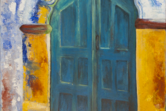 The blue Door - Acryl on Canvas - 60 x 50 cm