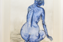 Woman - Acryl on Paper with Frame - 53 x 42 cm