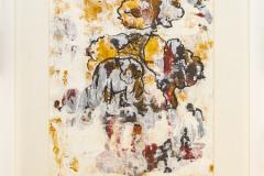 Elephant - Acryl on Paper with Frame - 43 x 33 cm