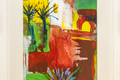 Noon Time - Acryl on Paper with Frame - 43 x 33 cm